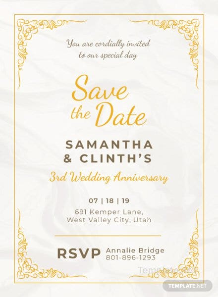 Anniversary Invitation Card Template