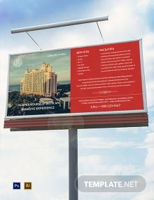 Free Hotel Billboard Template