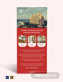 Free Printable Hotel Rack Card Template