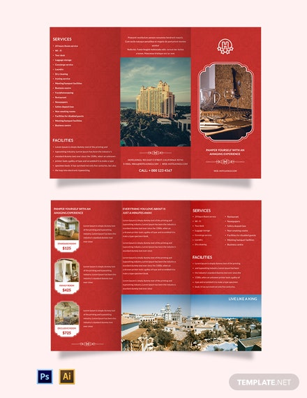 Free Hotel A3 Brochure Template