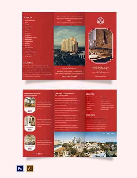 Hotel A3 Brochure Template