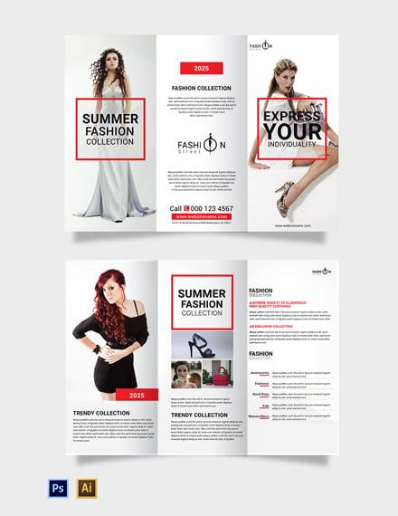 Free Fashion Tri-Fold Brochure Template