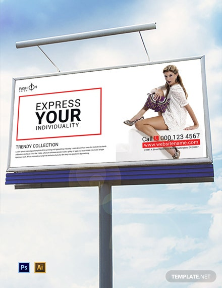 Free Fashion Billboard Template