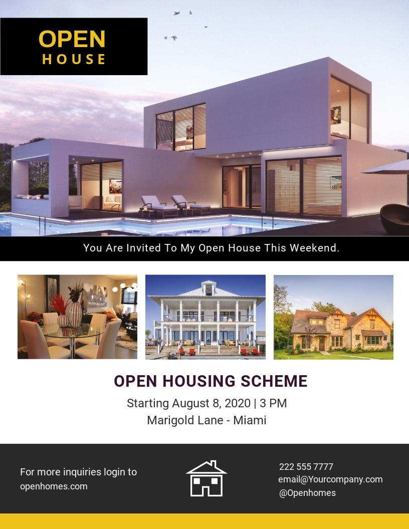 Free Open Housing Scheme Flyer Template