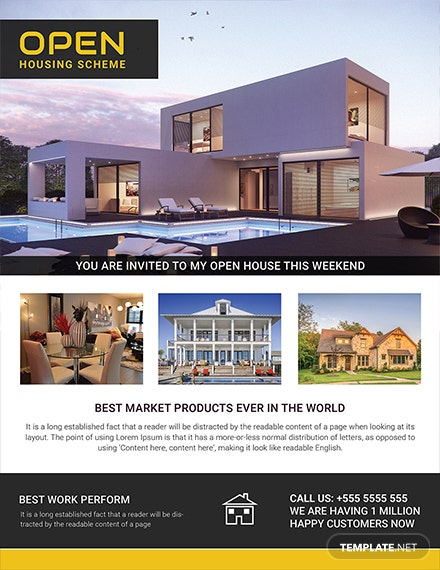 Free Open Housing Scheme Flyer Template