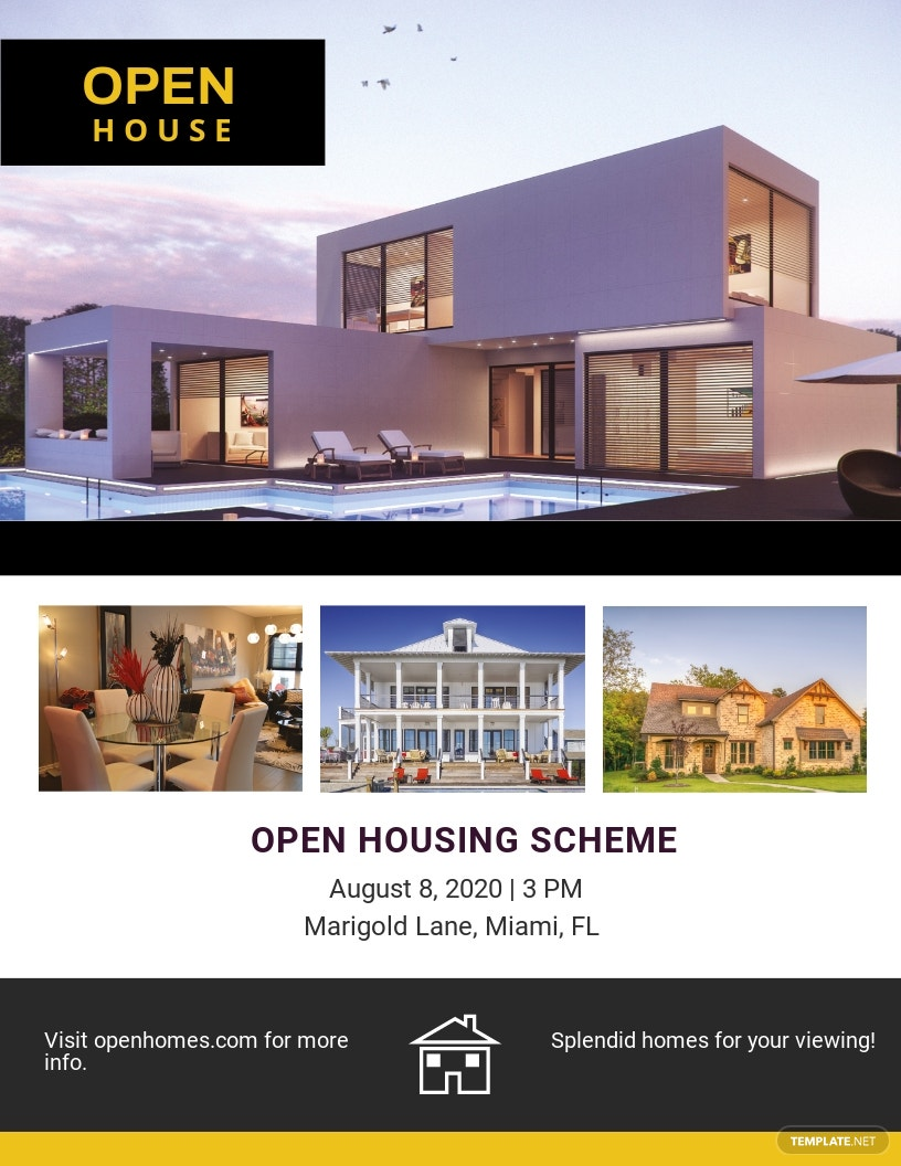 Open Housing Scheme Flyer Template