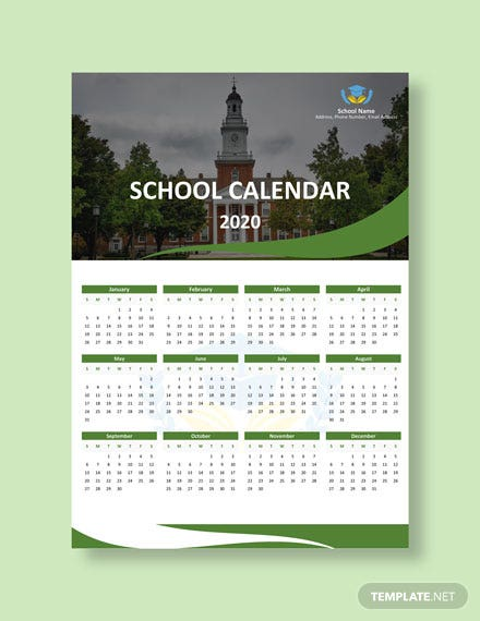 Blank School Desk Calendar Download