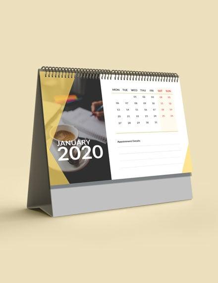 Business Appointment Desk Calendar Template