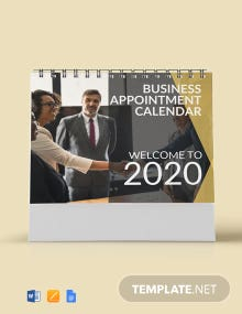 Business Appointment Desk Calendar Template