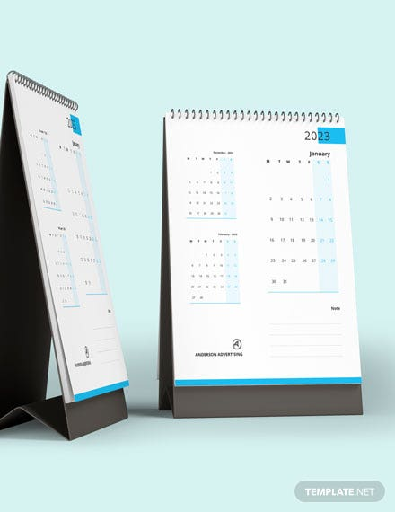 Business Desk Calendar Template