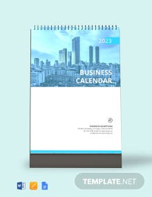 Free Business Desk Calendar Template