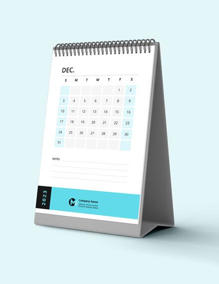 Business Inventory Desk Calendar Download