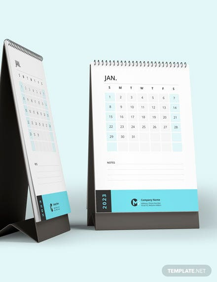 Business Inventory Desk Calendar Template