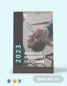 Business Inventory Desk Calendar Template