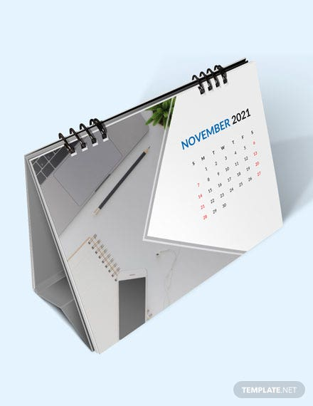 Business Planning Desk Calendar Template  - Word, Apple Pages