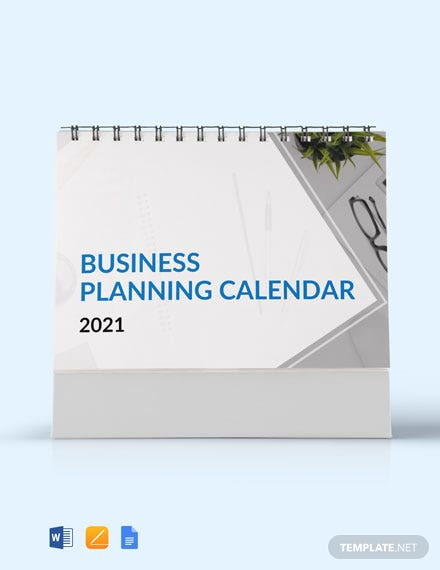 Free Business Planning Desk Calendar Template