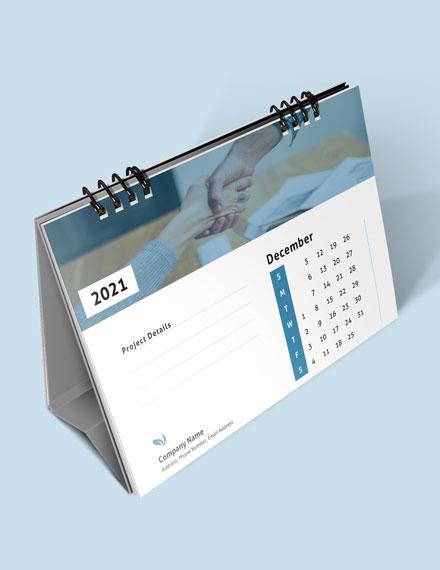 Business Project Management Desk Calendar Download
