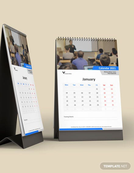 Business Training Desk Calendar Template