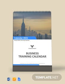 Free Business Training Desk Calendar Template