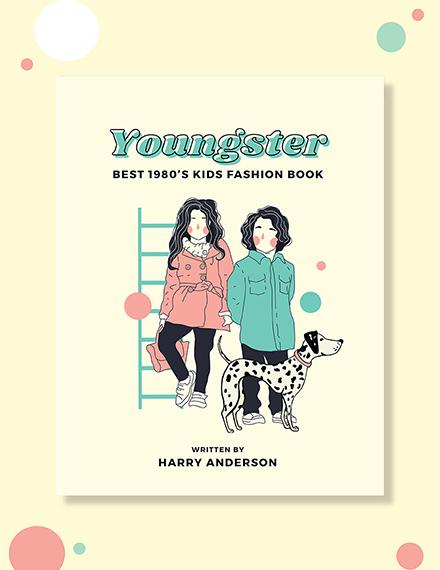 Free Children's Fashion Book Cover Template