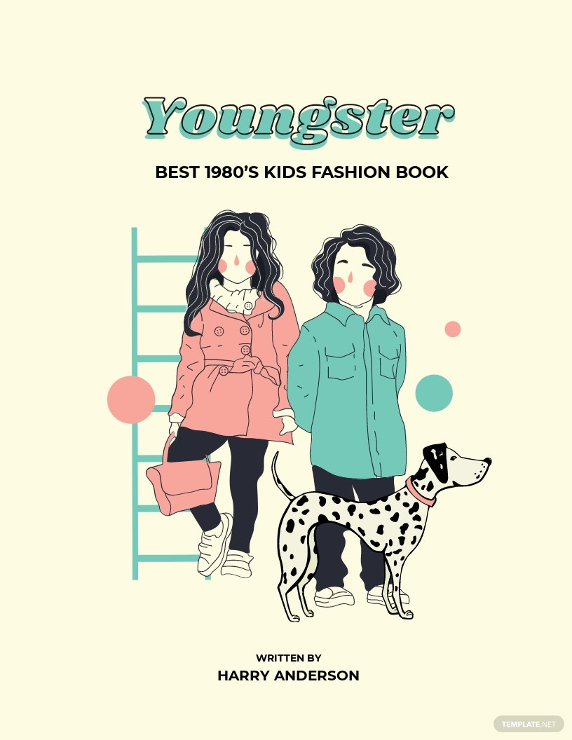 Free Children's Fashion Book Cover Template