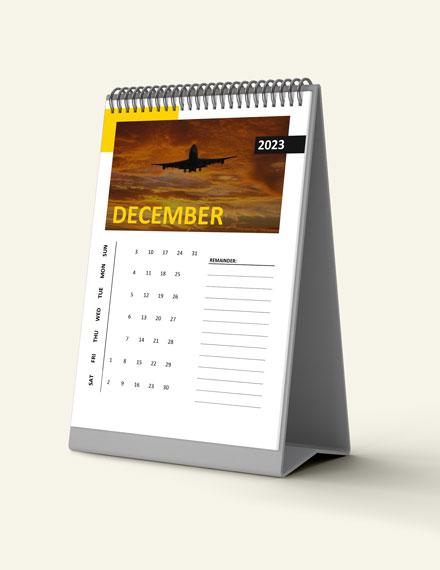 Business Travel Desk Calendar Download