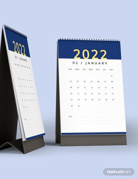 Business Trip Desk Calendar Template