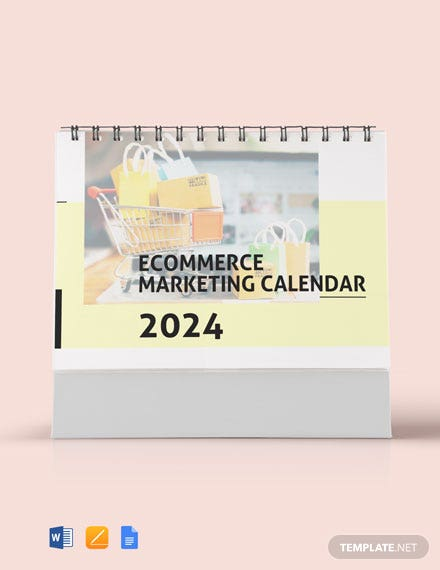 Ecommerce Marketing Desk Calendar Template