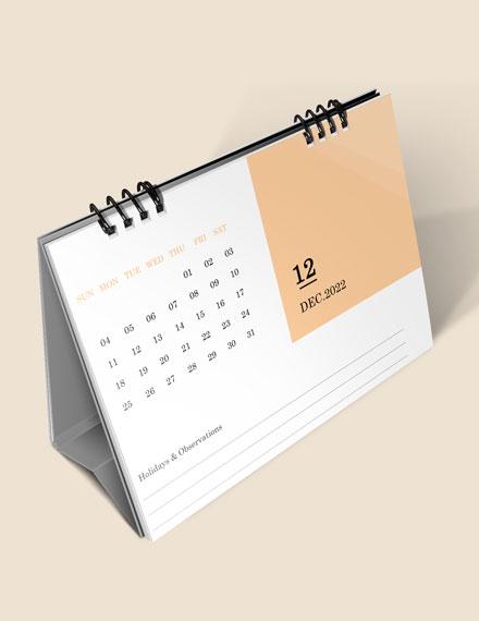 Printable School Desk Calendar Download