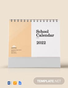Free Printable School Desk Calendar Template
