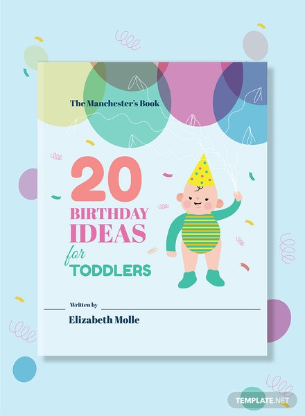 Children's Birthday Book Cover Template