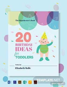 Free Children's Birthday Book Cover Template