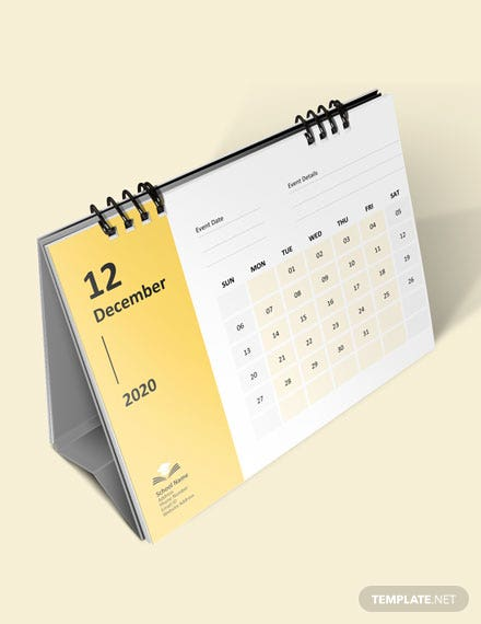 School Event Desk Calendar Download