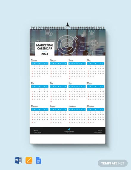 Simple Marketing Desk Calendar Template