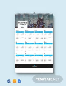 Free Simple Marketing Desk Calendar Template