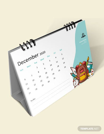 Simple School Desk Calendar Download