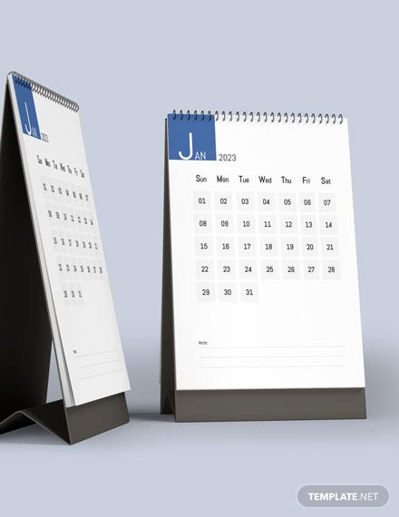 Social Media Marketing Desk Calendar Template