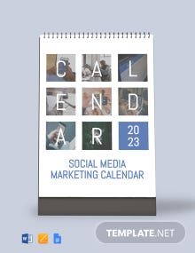 Free Social Media Marketing Desk Calendar Template