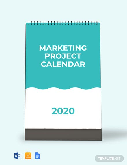 Free Marketing Project Desk Calendar Template