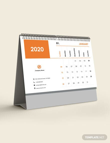 Accounting Desk Calendar Template