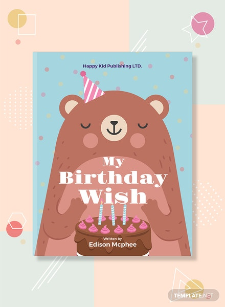Kid's Birthday Book Cover Template