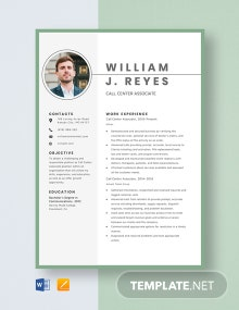 Call Center Associate Resume Template