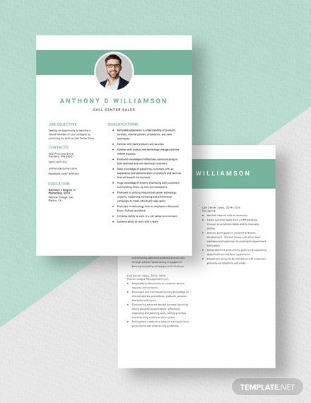 Call Center Sales Resume Download