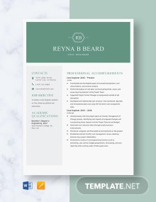 Cost Engineer Resume Template