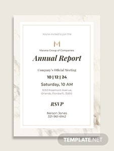 Official Meeting Invitation Template