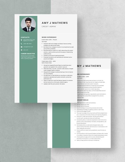 Credit Admin Resume Download
