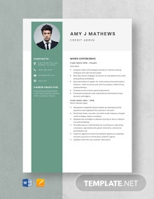 Credit Admin Resume Template