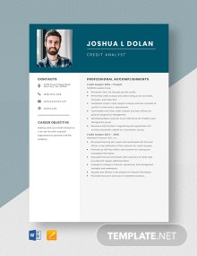 Credit Analyst Resume Template