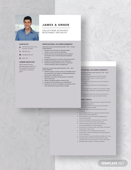 Collections Accounts Receivable Specialist Resume Download