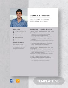 Collections Accounts Receivable Specialist Resume Template